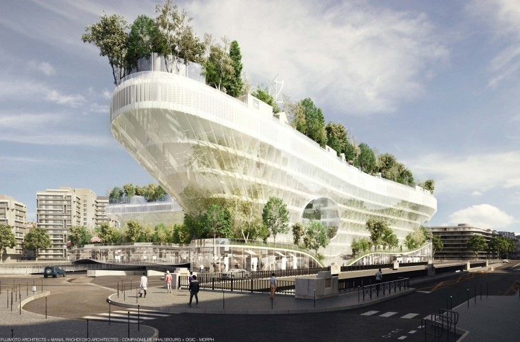 Eco aan de Seine - Parijs bouwt een uniek, zwevend groendorp