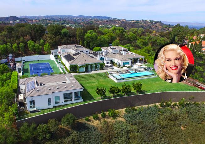Landgoed Gwen Stefani te koop voor 32 miljoen euro