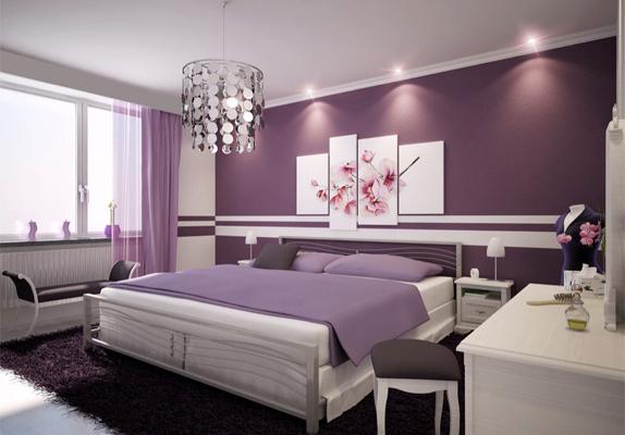 slaapkamer paarse muur  consenza for ., Meubels Ideeën