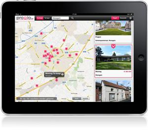 Up-to-date aanbod van vastgoedprofessionals nu ook op iPad